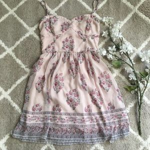 🍃🌸{Abercrombie & Fitch}: Pink Printed Dress🌸🍃